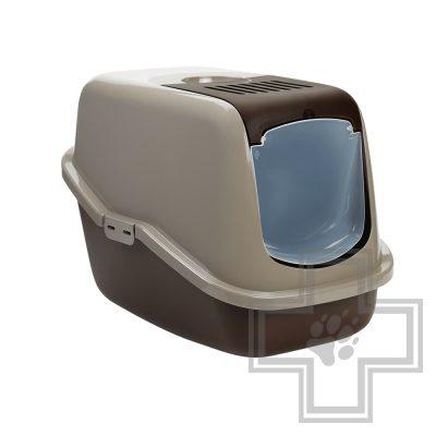 Beeztees Туалет-домик для кошек Nestor, коричневый