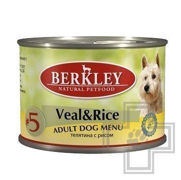 Berkley Консервы №5 для собак, телятина с рисом