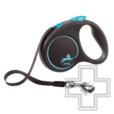 Flexi Black Design Поводок-рулетка ременная