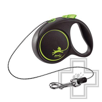 Flexi Black Design Поводок-рулетка тросовая