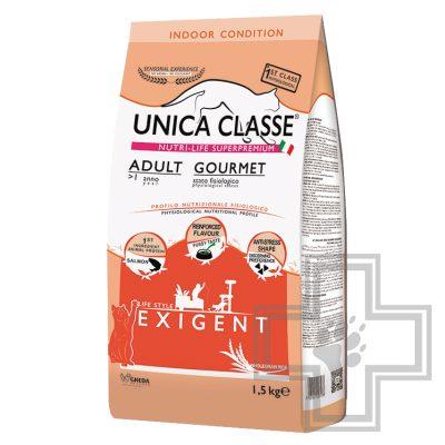 Unica Classe Корм для взрослых кошек, с лососем