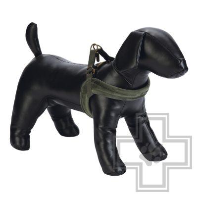 Beeztees Шлейка велюровая для собак, зеленая, размер S