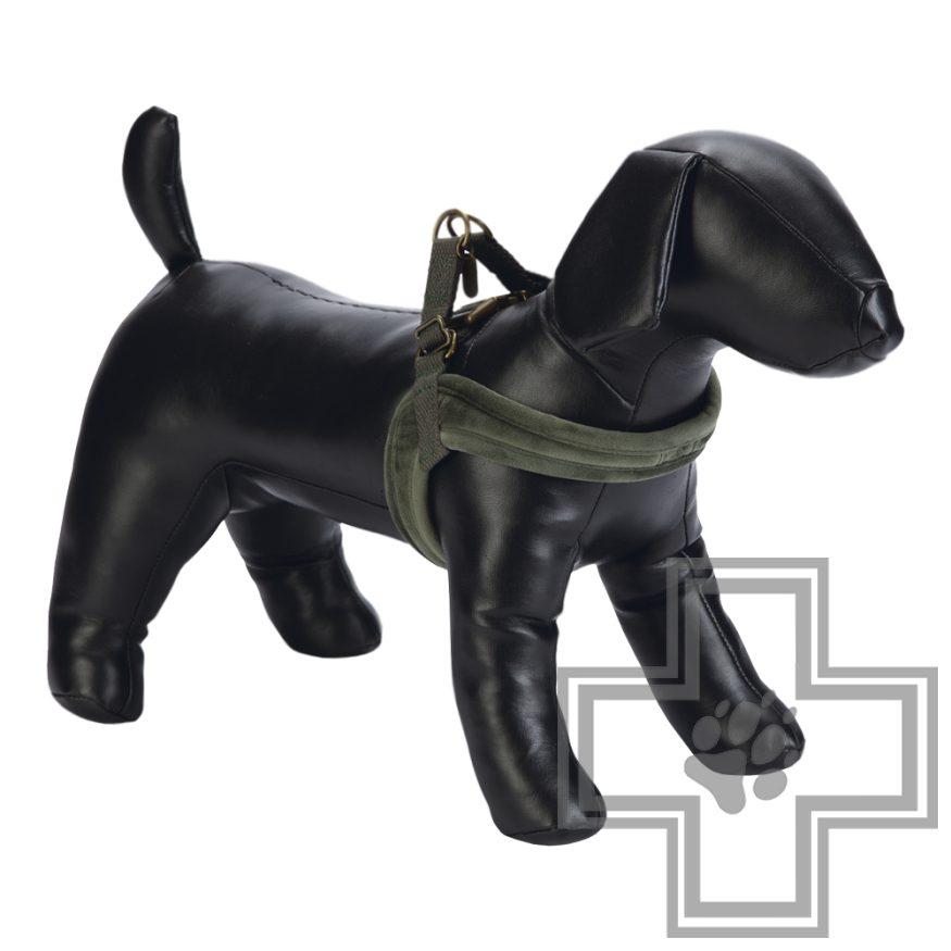 Beeztees Шлейка велюровая для собак, зеленая, размер M