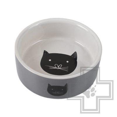 Beeztees Jynos Миска для кошек керамическая, серая