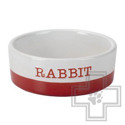Beeztees JOMI миска для кролика керамическая красная
