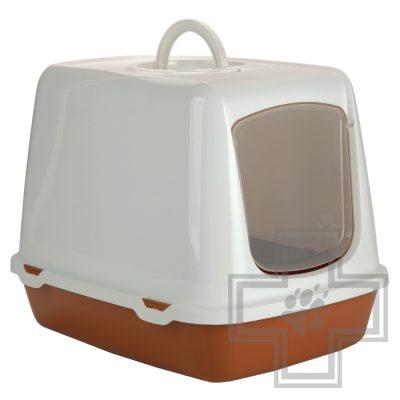 Beeztees Туалет кошачий OSCAR, коричнево-белый