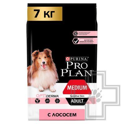 Pro Plan Корм для взрослых собак средних пород с чувствительной кожей, с лососем и рисом
