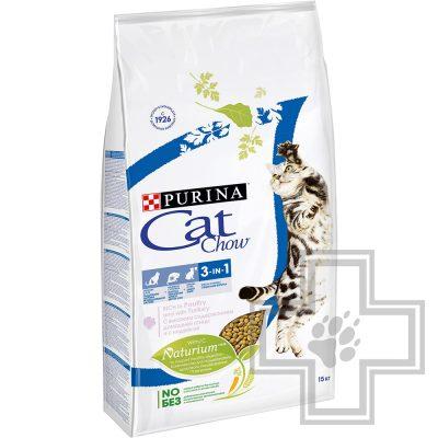 Pro Plan Cat Chow FELINE Корм для взрослых кошек с формулой тройного действия, с индейкой и птицей