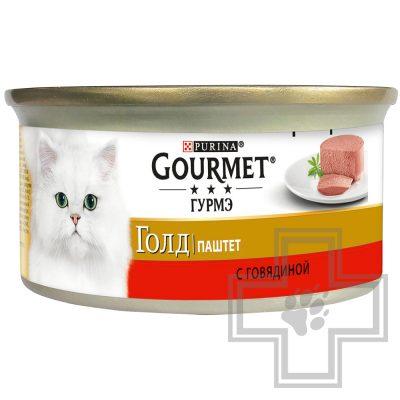 Pro Plan Gourmet Гурмэ Голд Консервы для взрослых кошек, паштет с говядиной