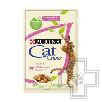Pro Plan Cat Chow ADULT Пресервы для взрослых кошек, с ягненком и зеленой фасолью в желе