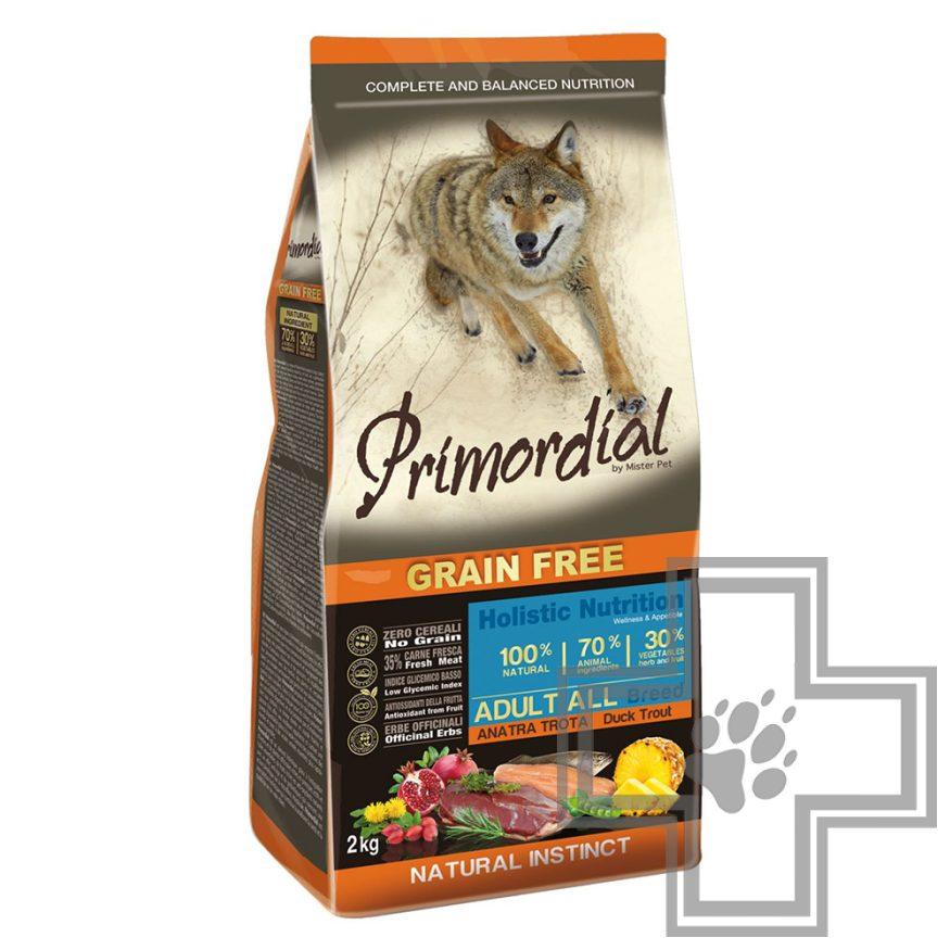 Primordial Grain Free Adult All Breed Корм для взрослых собак всех пород, с форелью и уткой