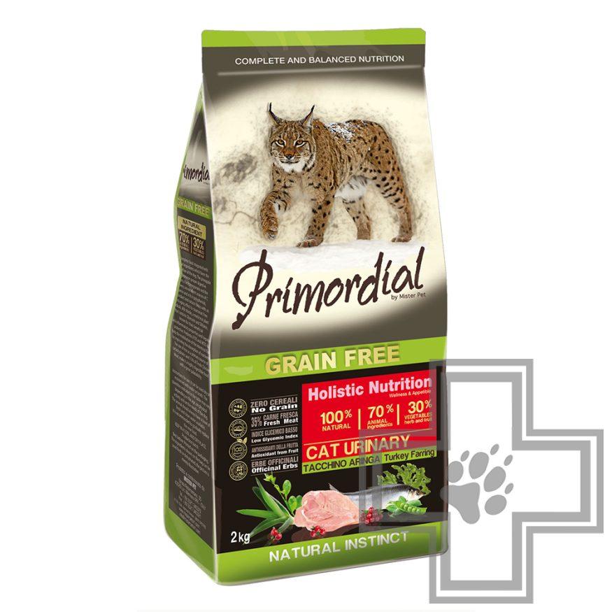Primordial Grain Free Cat Urinary Корм для кошек (с МКБ), с индейкой и сельдью