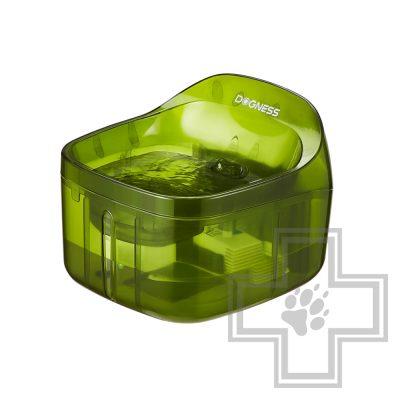 DOGNESS Автоматическая поилка-фонтан для домашних животных, зеленая
