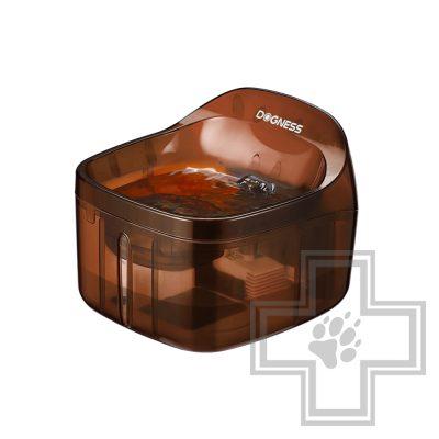 DOGNESS Автоматическая поилка-фонтан для домашних животных, коричневая